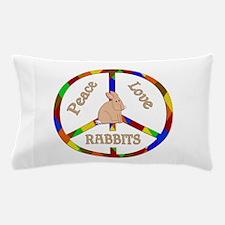 Peace Love Rabbits Pillow Case