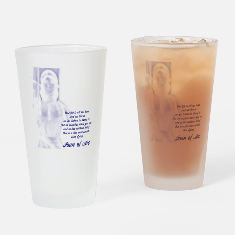 Joan of Arc - One Life Drinking Glass