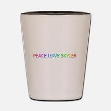 Peace Love Skyler Shot Glass