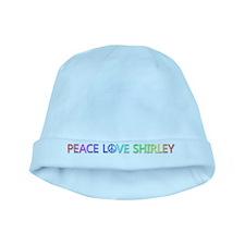 Peace Love Shirley baby hat