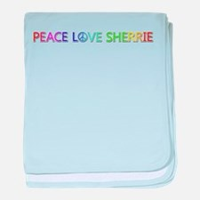 Peace Love Sherrie baby blanket