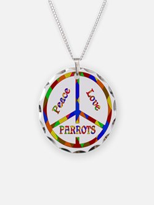 Peace Love Parrots Necklace