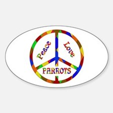 Peace Love Parrots Decal