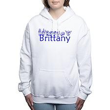Cute American brittany Women's Hooded Sweatshirt