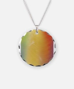 Warm Abstract Art Necklace