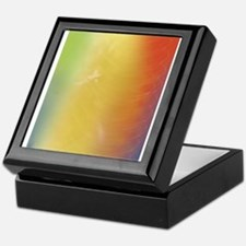 Warm Abstract Art Keepsake Box