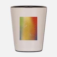 Warm Abstract Art Shot Glass