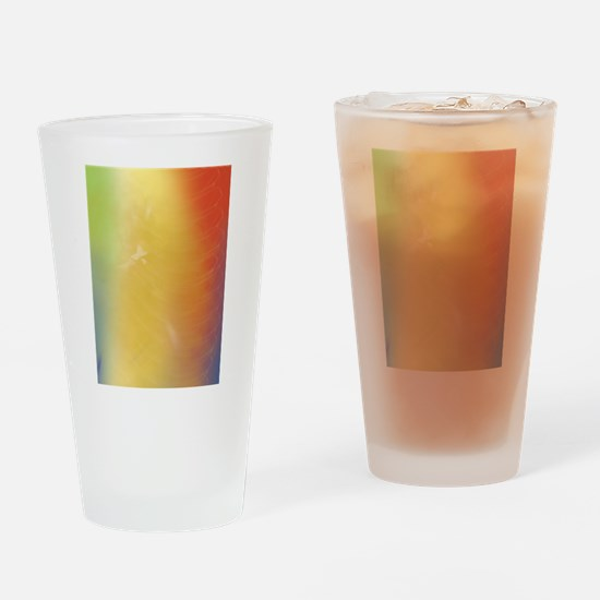 Warm Abstract Art Drinking Glass
