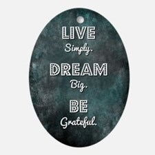 LIVE SIMPLY... Oval Ornament