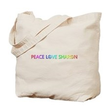 Peace Love Sharon Tote Bag