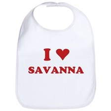 I LOVE SAVANNA Bib