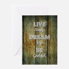 LIVE SIMPLY... Greeting Card