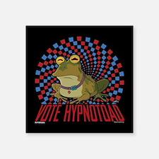 """Futurama Vote Hypnotoad Square Sticker 3"""" x 3"""""""