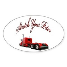 Stretch Your Peter Oval Decal
