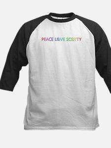 Peace Love Scotty Baseball Jersey
