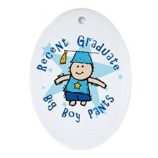 Big Boy Pants Oval Ornament