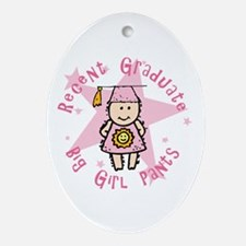 Big Girl Pants Oval Ornament