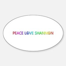 Peace Love Shannon Oval Decal