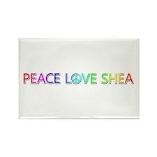 Peace Love Shea Rectangle Magnet