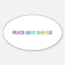 Peace Love Sherrie Oval Decal