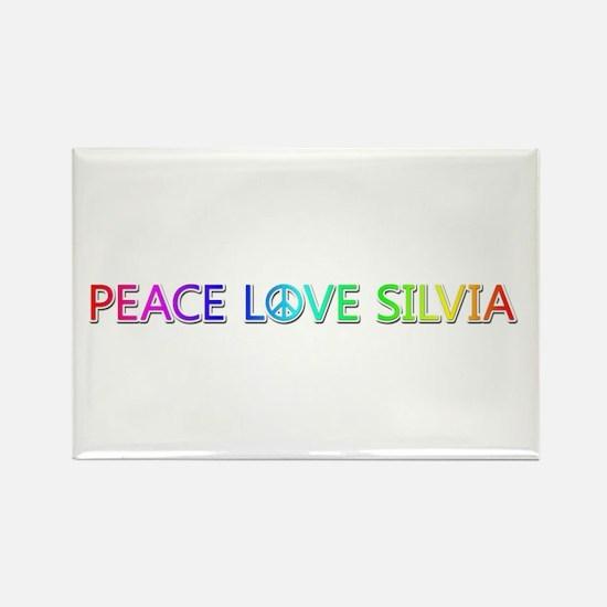 Peace Love Silvia Rectangle Magnet