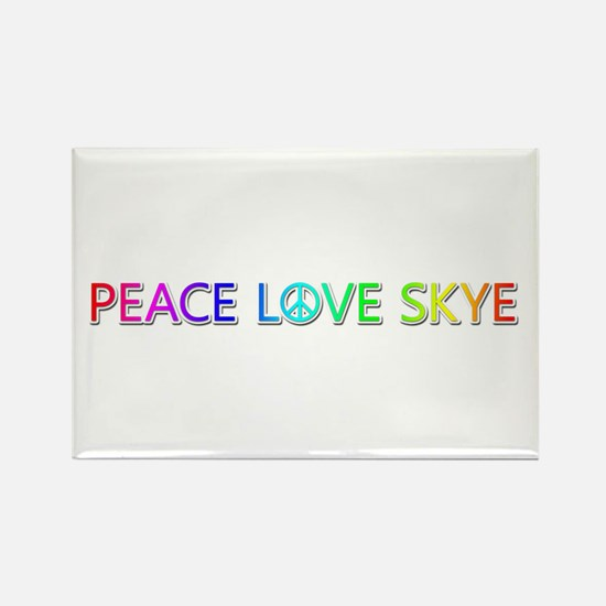 Peace Love Skye Rectangle Magnet
