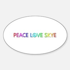 Peace Love Skye Oval Decal