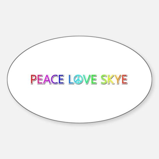 Peace Love Skye Oval Decal
