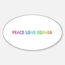 Peace Love Sophia Oval Decal