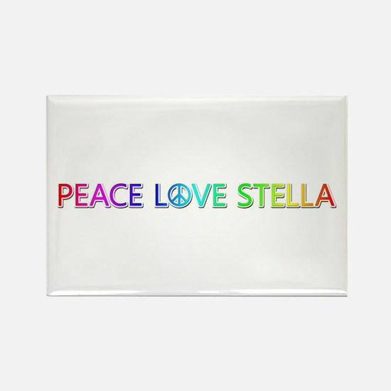 Peace Love Stella Rectangle Magnet
