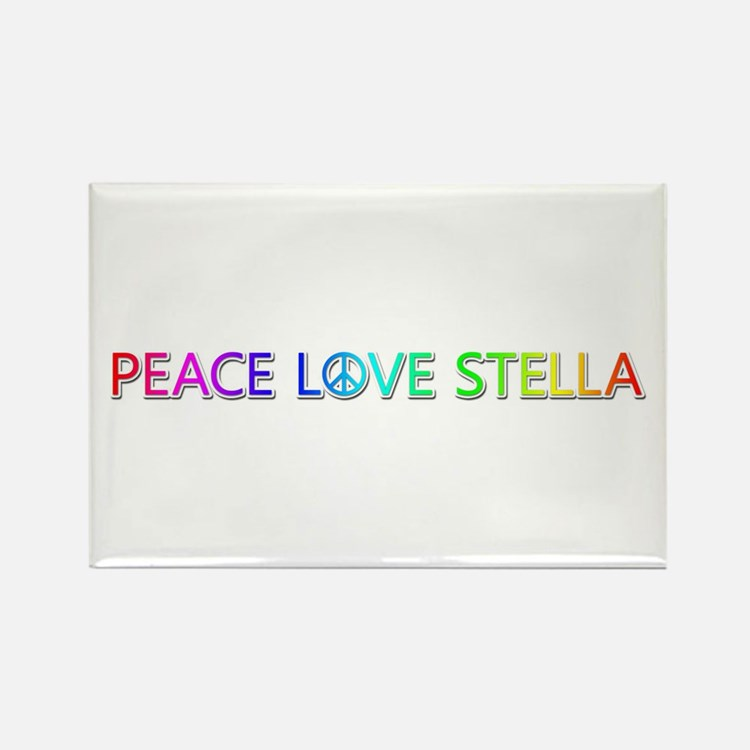 Peace Love Stella Rectangle Magnet