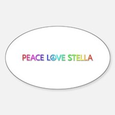 Peace Love Stella Oval Decal