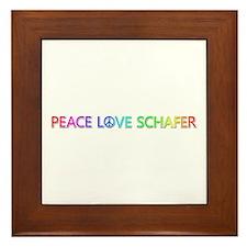 Peace Love Schafer Framed Tile