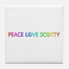 Peace Love Scotty Tile Coaster