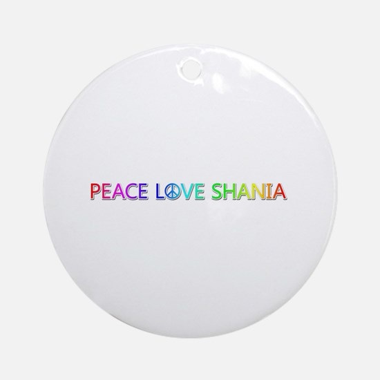 Peace Love Shania Round Ornament