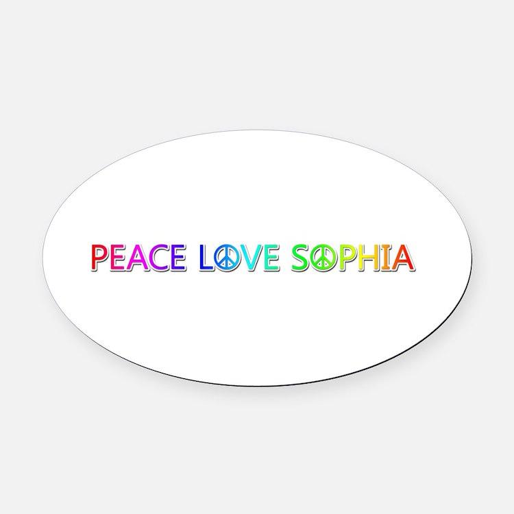Peace Love Sophia Oval Car Magnet