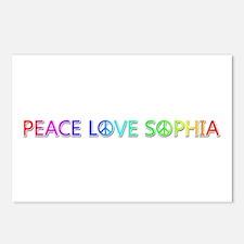 Peace Love Sophia Postcards 8 Pack