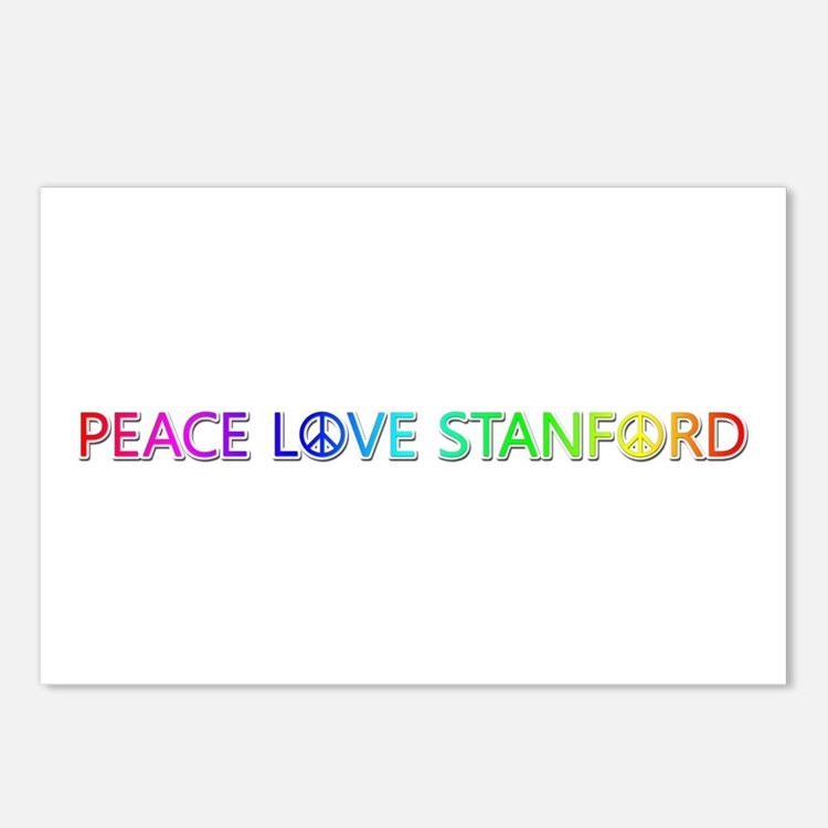 Peace Love Stanford Postcards 8 Pack
