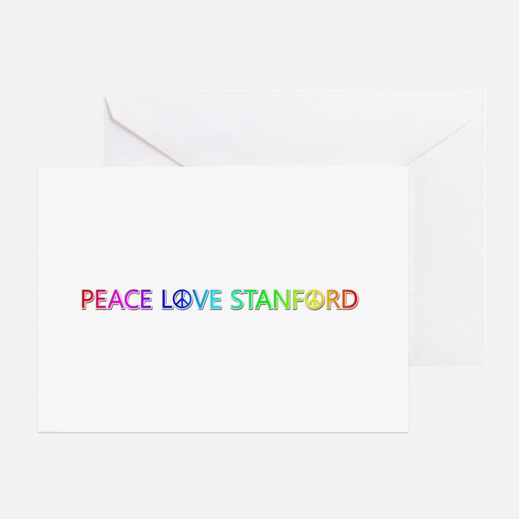 Peace Love Stanford Greeting Card