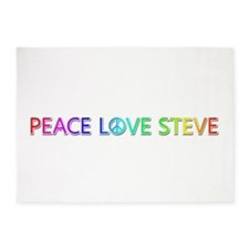 Peace Love Steve 5'x7' Area Rug