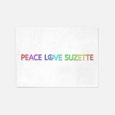 Peace Love Suzette 5'x7' Area Rug