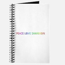 Peace Love Shannon Journal