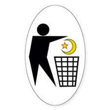 Trash Religion (Muslim Version) Oval Decal