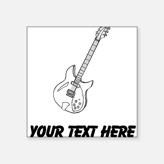 Electric Guitar Stickers CafePress - Custom vinyl stickers for guitars