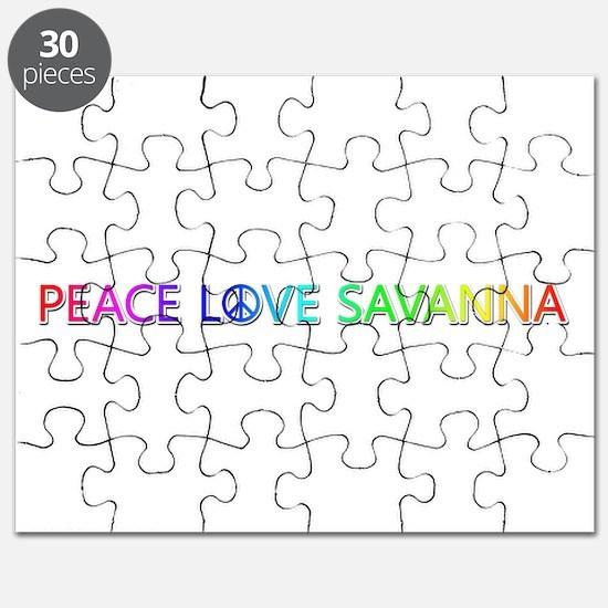 Peace Love Savanna Puzzle