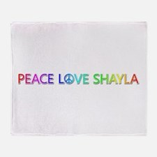 Peace Love Shayla Throw Blanket