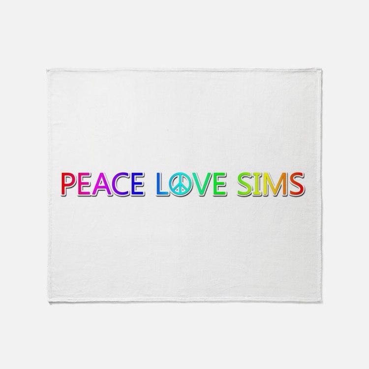 Peace Love Sims Throw Blanket