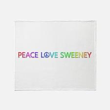 Peace Love Sweeney Throw Blanket