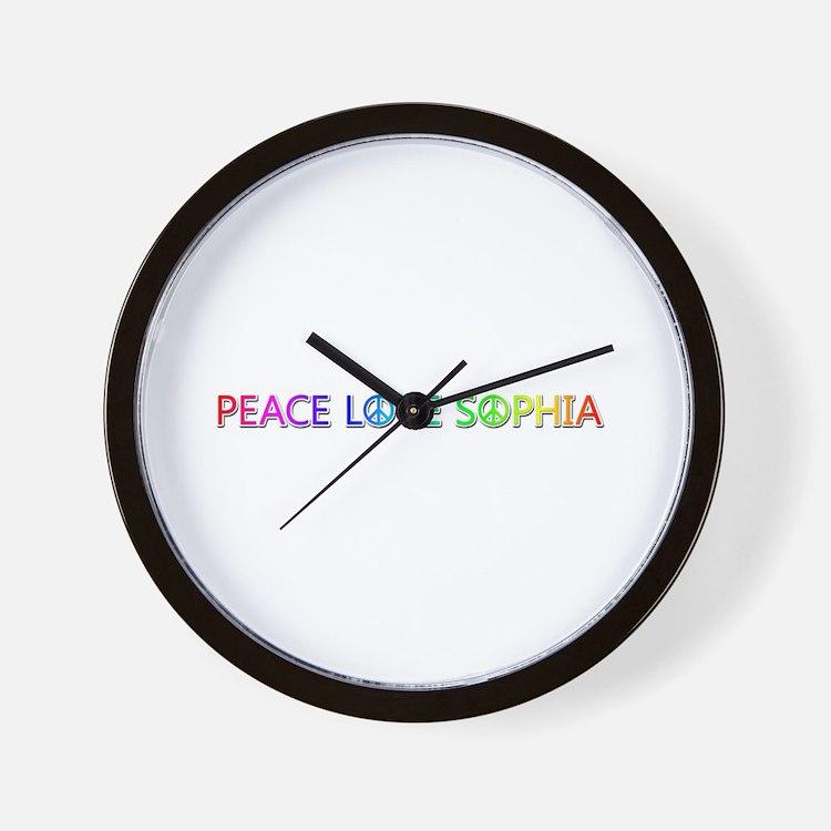 Peace Love Sophia Wall Clock