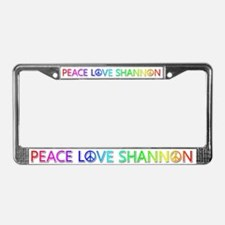 Peace Love Shannon License Plate Frame